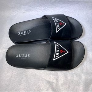 Guess Shoes - GUESS BLACK SLIDES